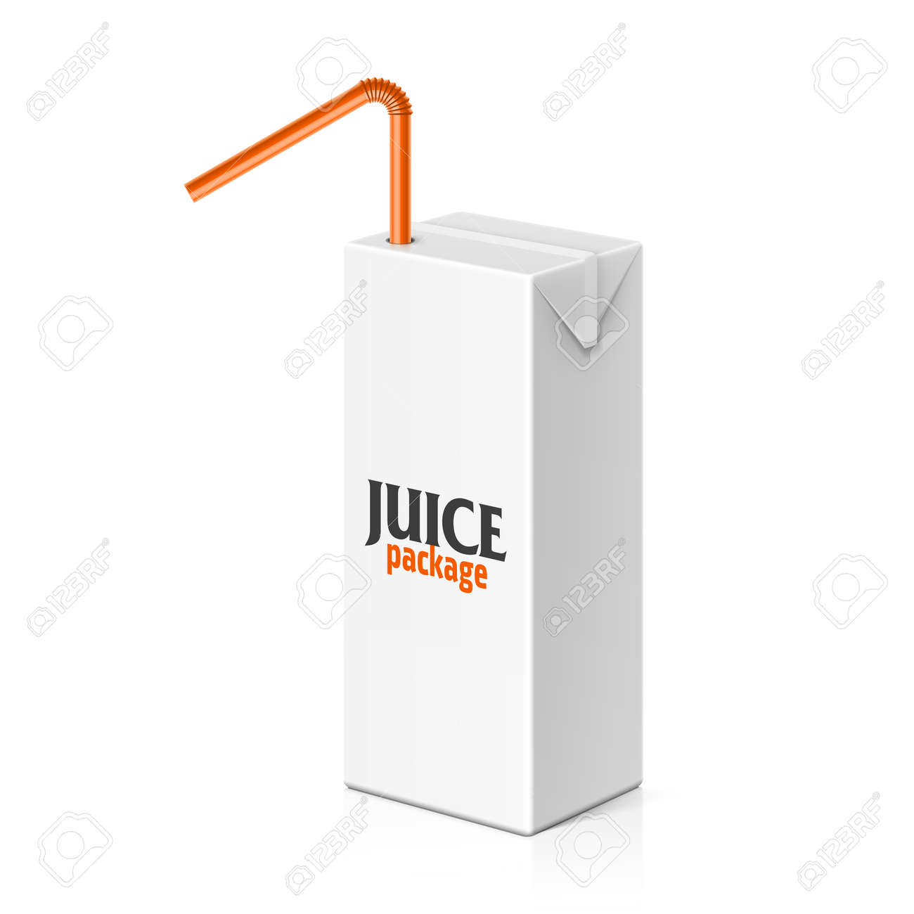 juice or milk box with drinking straw template royalty free cliparts