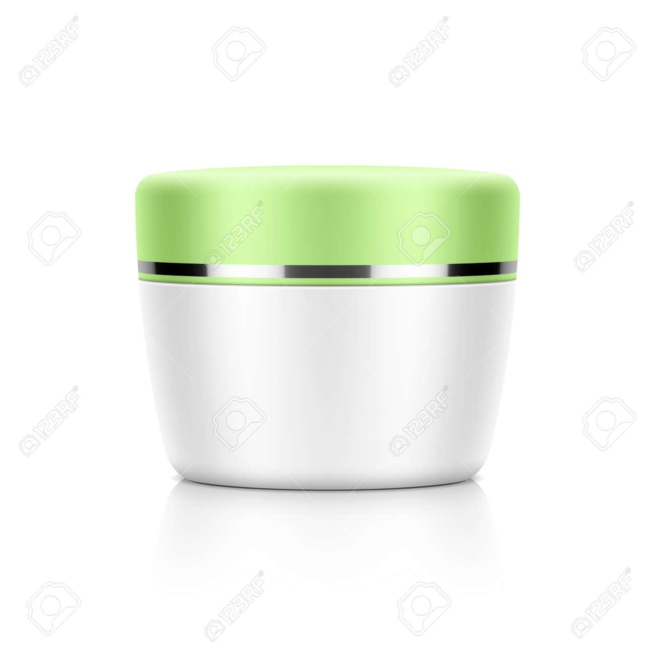 Cosmetic Packaging, Cream, Powder Or Gel Jar Template Royalty Free ...