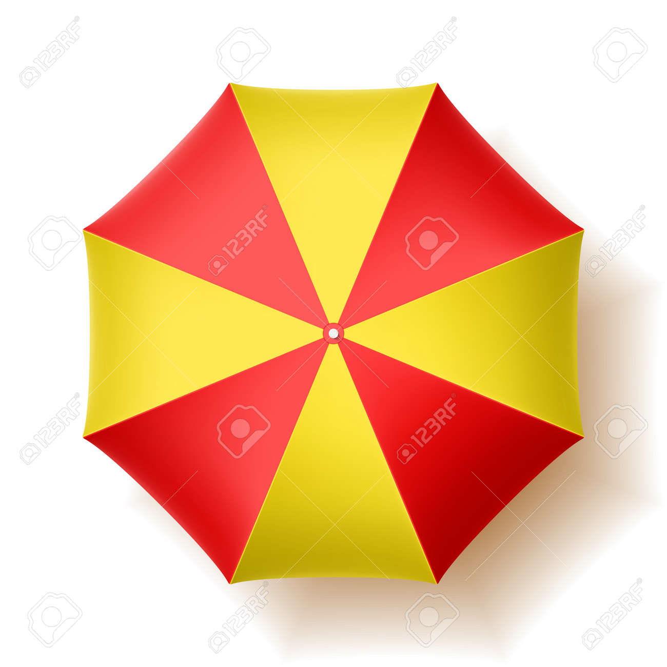 beach umbrella, top view royalty free cliparts, vectors, and stock