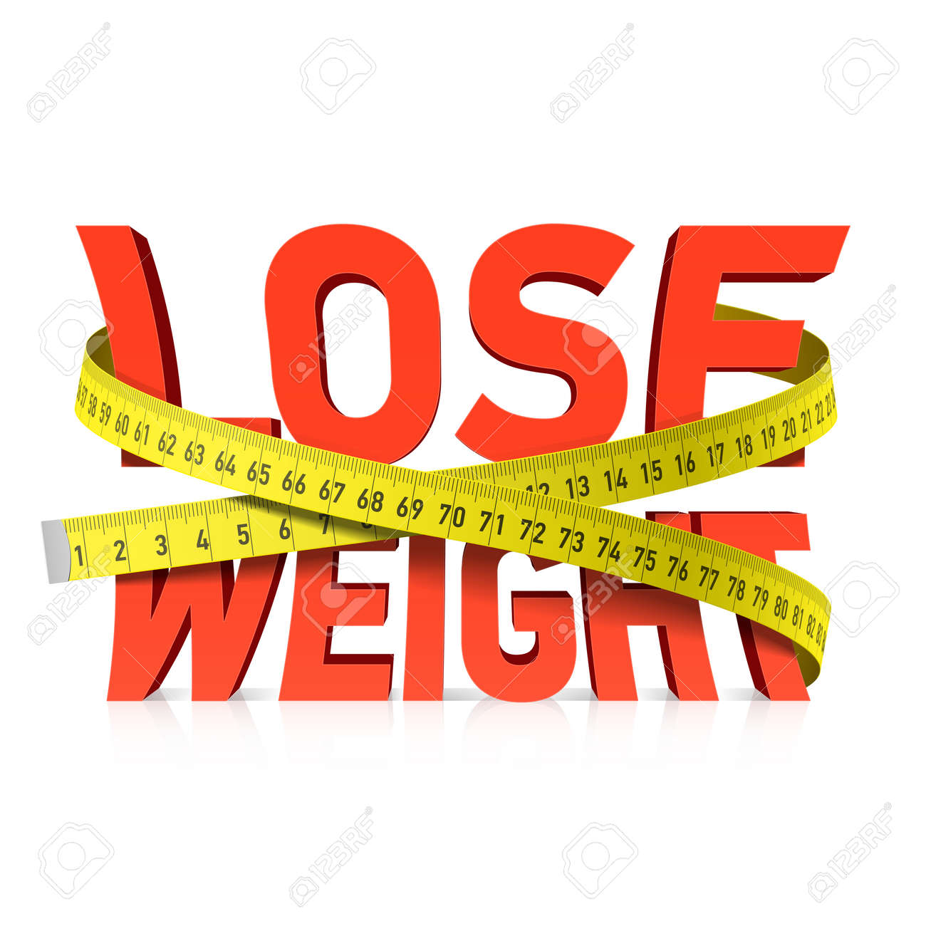 Lose weight word with measuring tape concept - 33664692