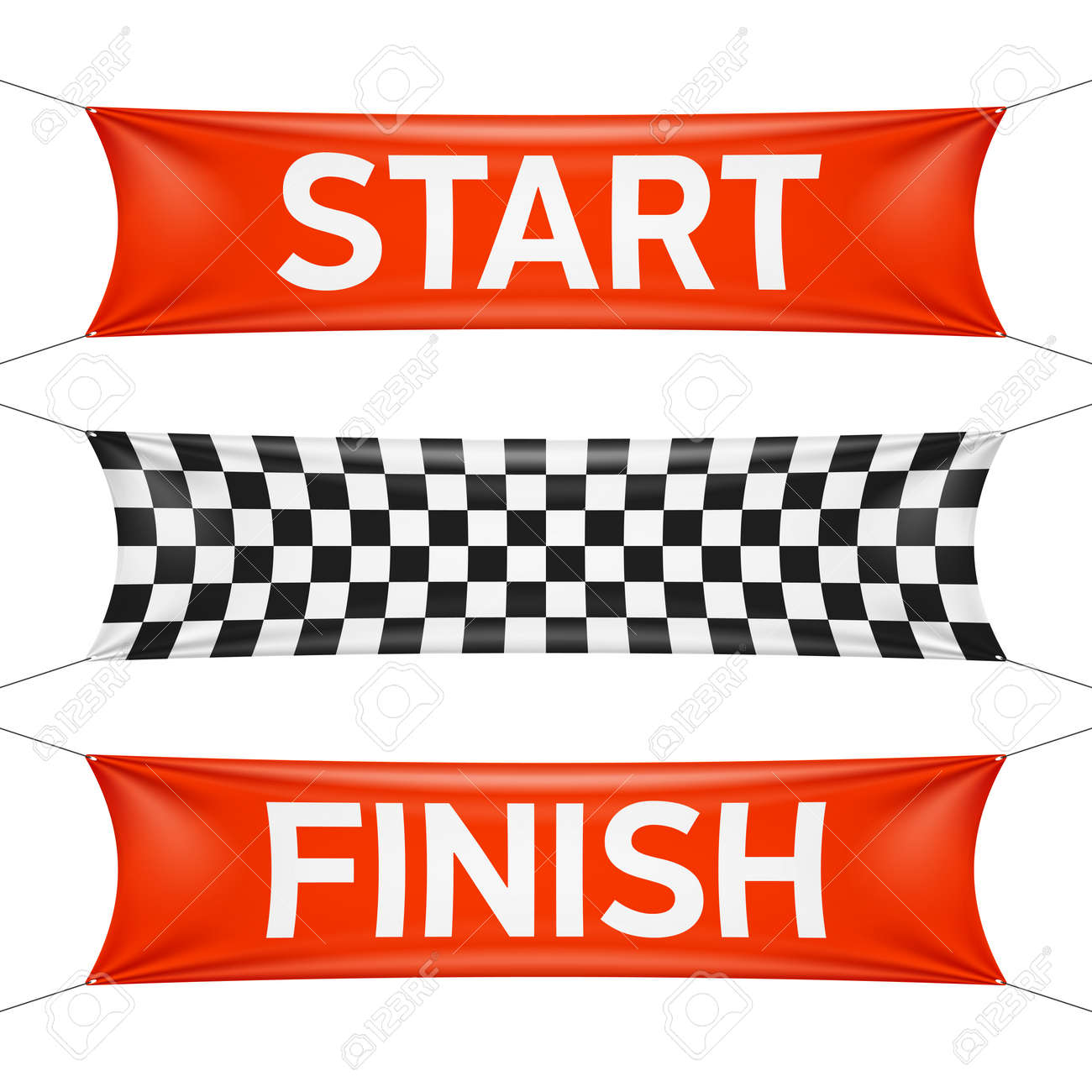 starting and finishing lines checkered banners royalty free