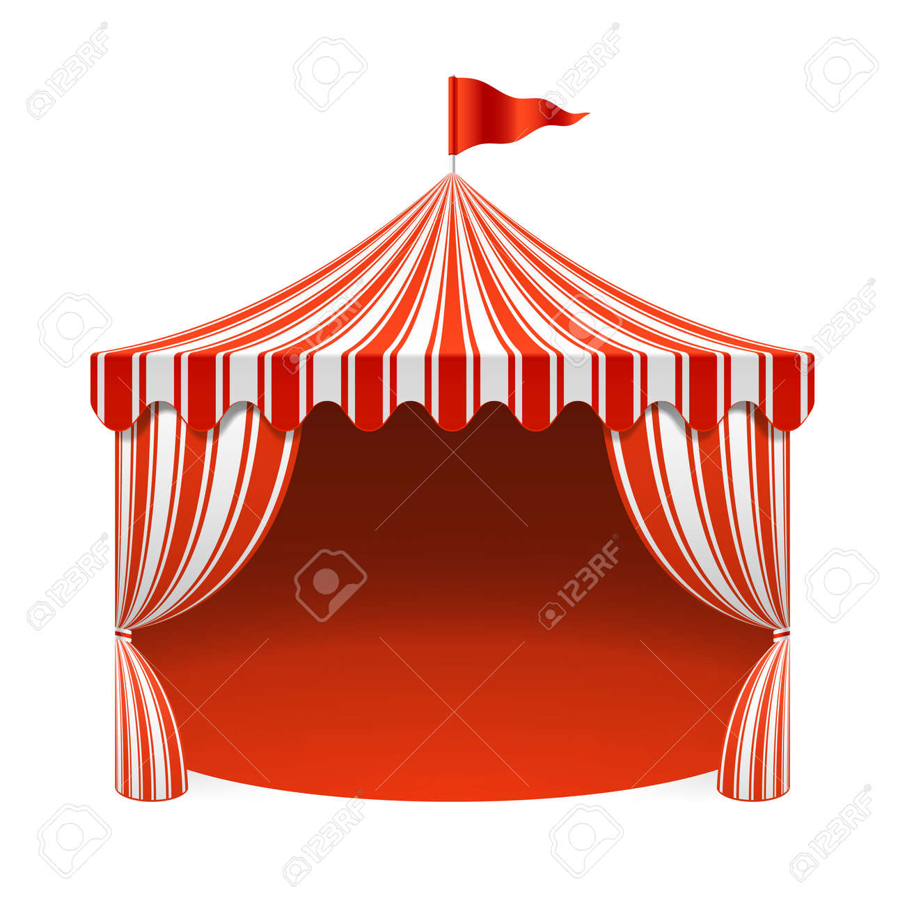 Circus tent poster background Stock Vector - 37031151  sc 1 st  123RF Stock Photos & Circus Tent Poster Background Royalty Free Cliparts Vectors And ...