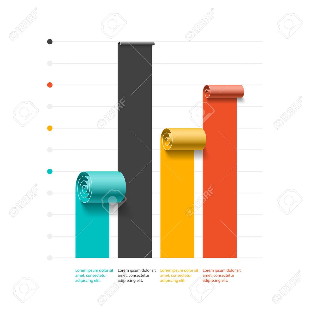 Spiral Business Graph Bar Chart Template Infographics Element – Bar Chart Template