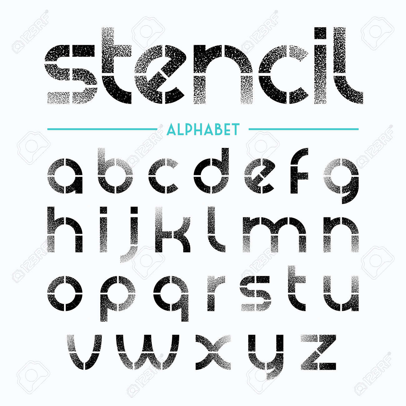 Spray painted stencil alphabet letters royalty free cliparts spray painted stencil alphabet letters stock vector 40977523 spiritdancerdesigns Images