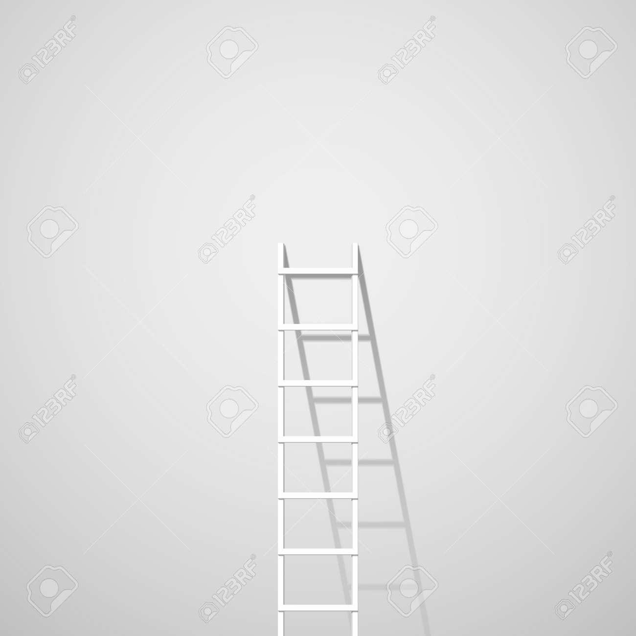 Witte ladder tegen muur royalty vrije cliparts, vectoren, en stock ...
