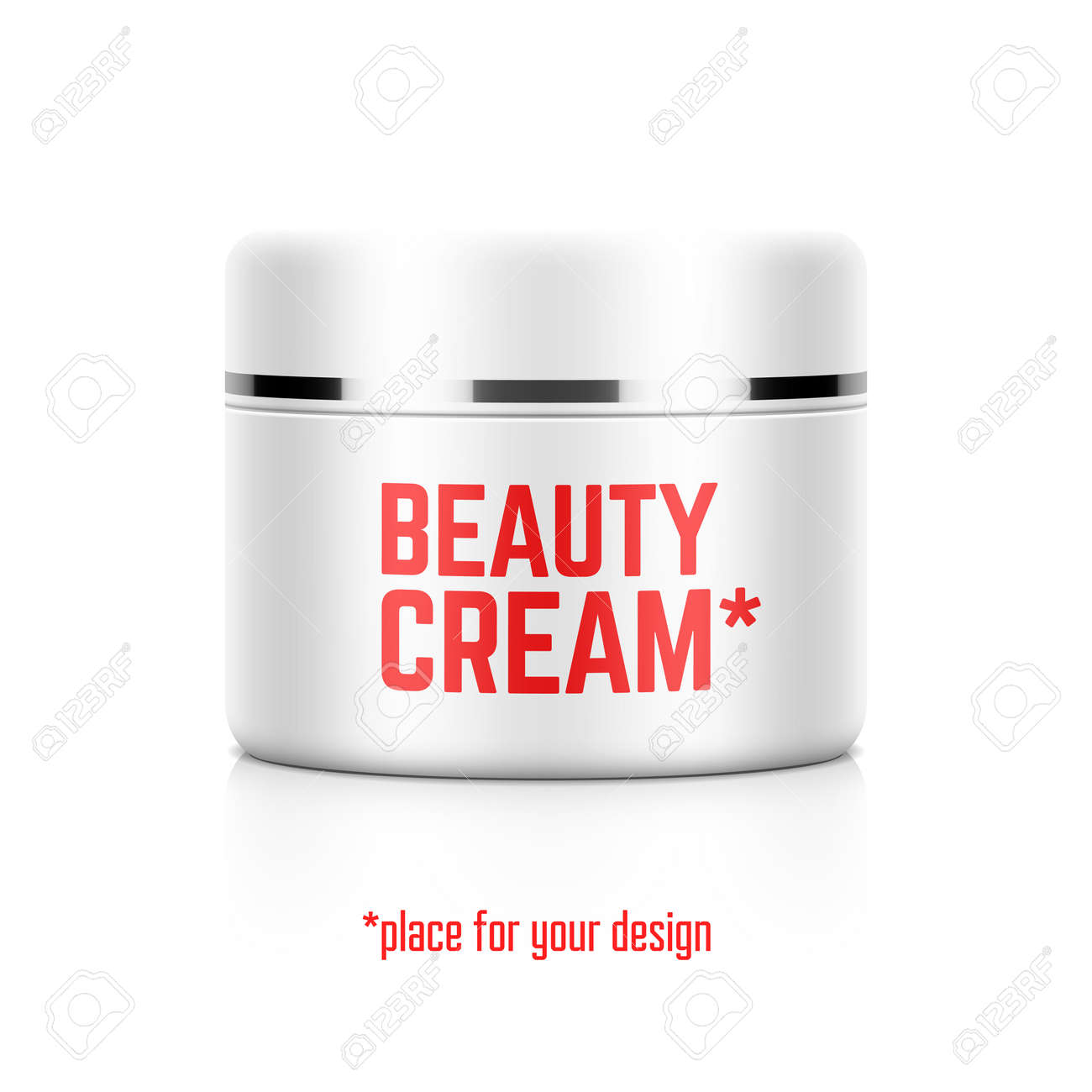 Beauty Cream Jar Template With Place For Your Design Royalty Free ...