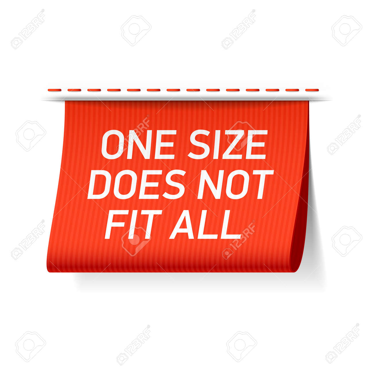 f22043d5b417 One size does not fit all label Stock Vector - 48102643