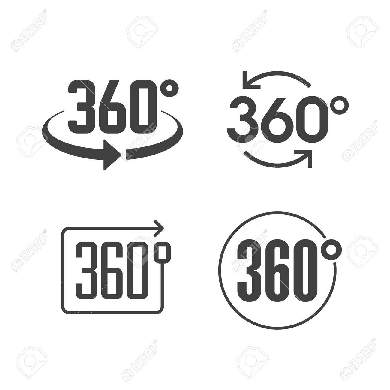 360 degrees view sign icon Stock Vector - 49822463