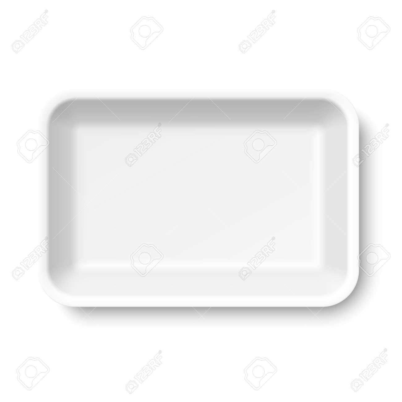 White empty food tray - 50559194