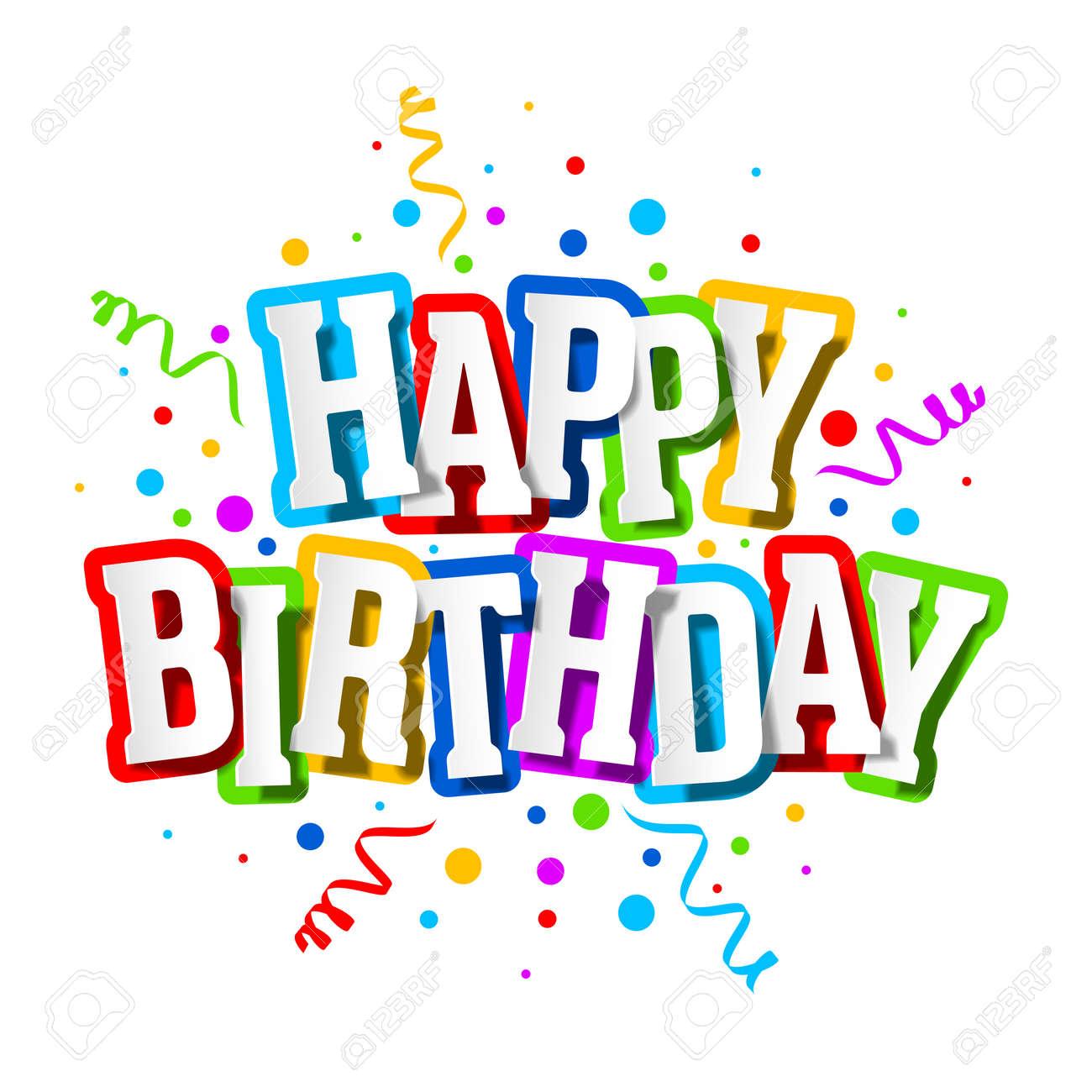 Happy Birthday Greeting Card - 54980388