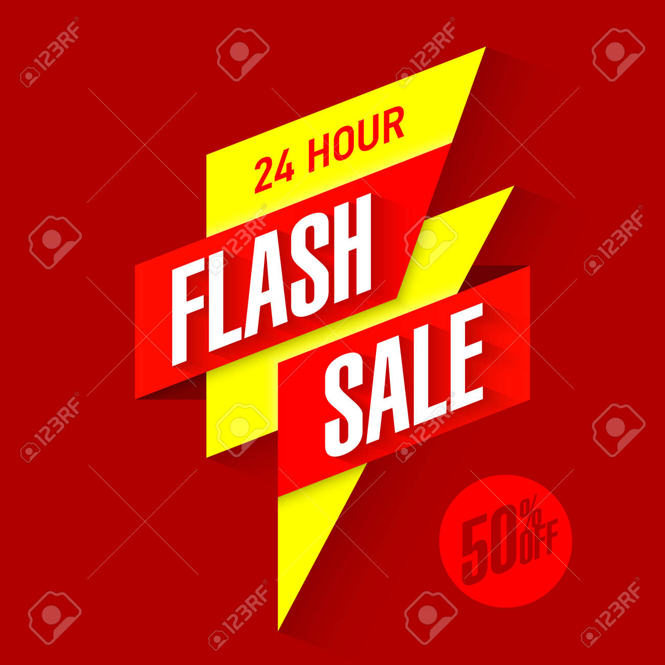 24 hour Flash Sale bright banner - 55245998