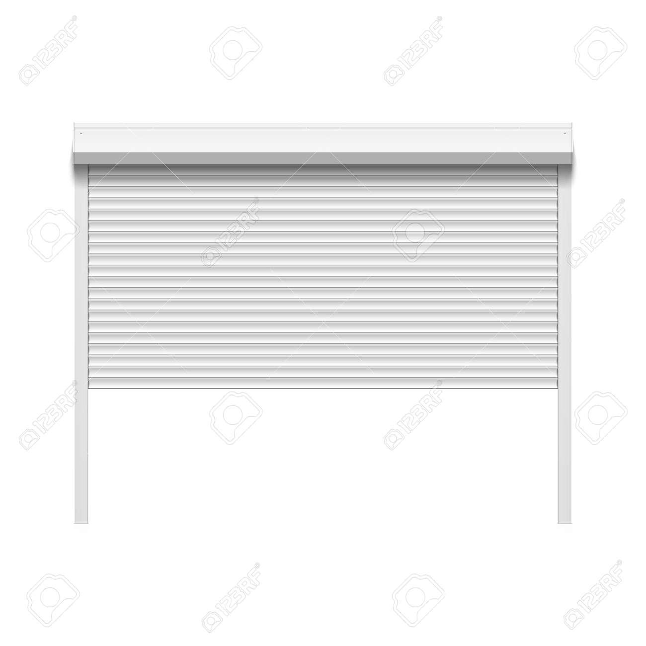 white garage door texture. Garage Door With Rolling Shutters Stock Vector - 55657002 White Texture