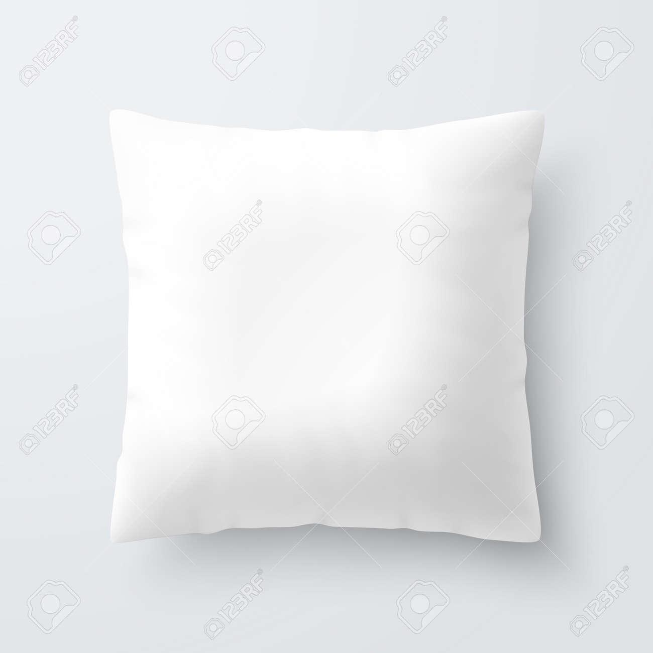 Blank white square pillow cushion - 55657010