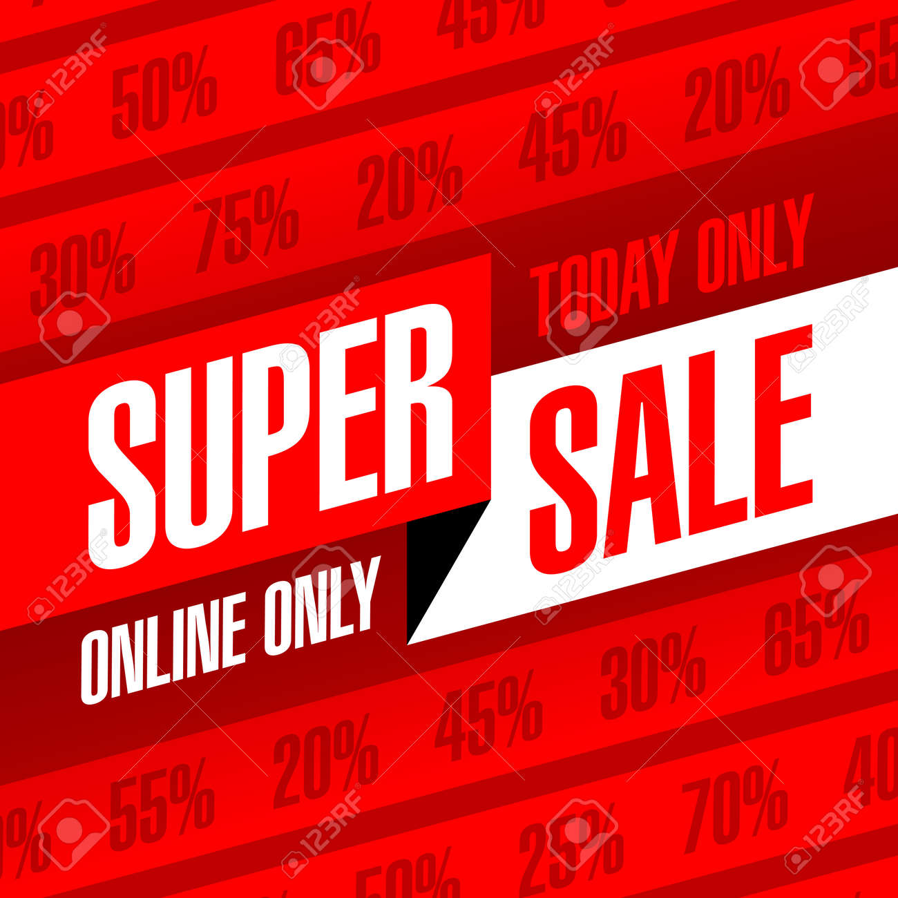 1fad21a1f03e Today And Online Only Super Sale Banner. One Day Deal