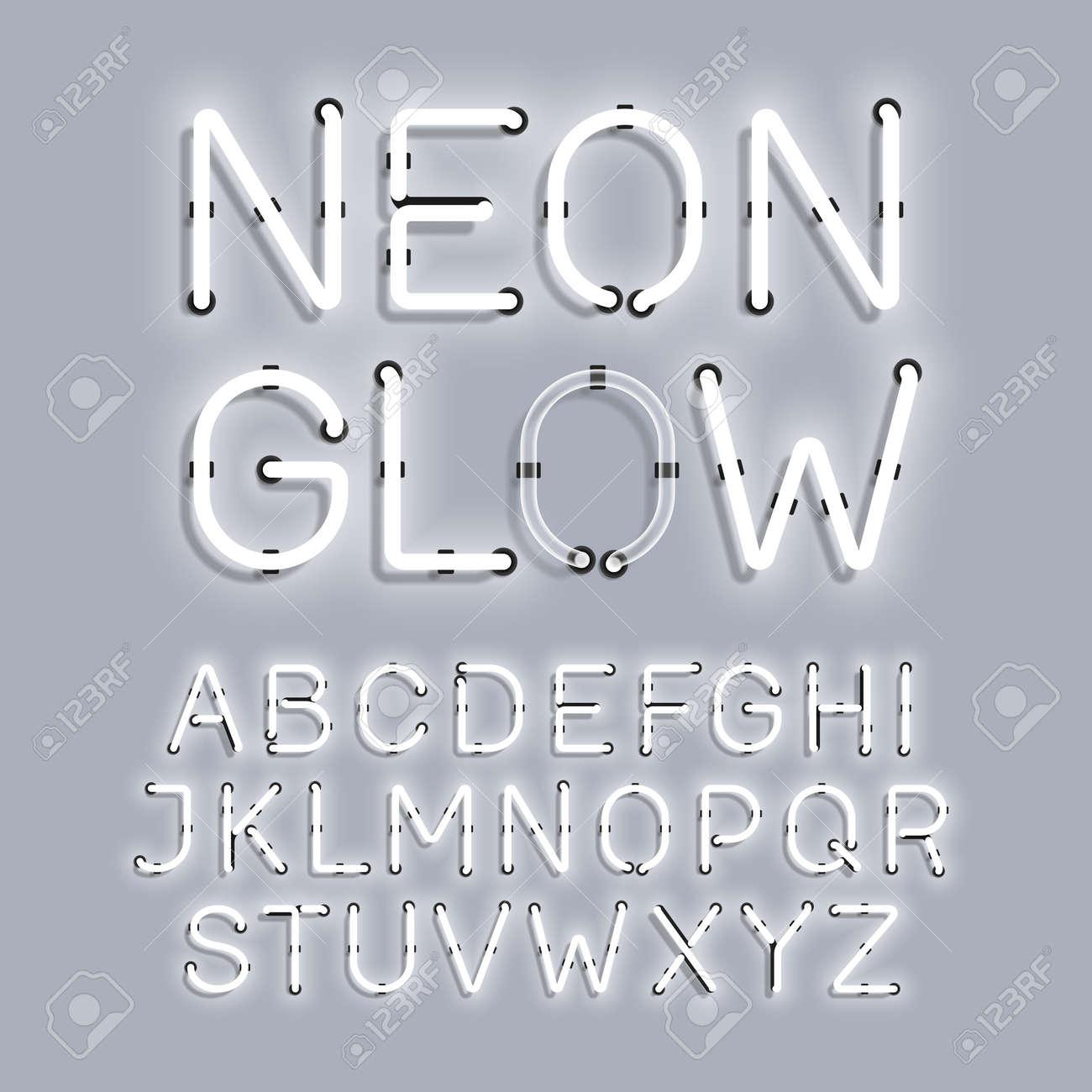 White Neon Glow type - 56999628