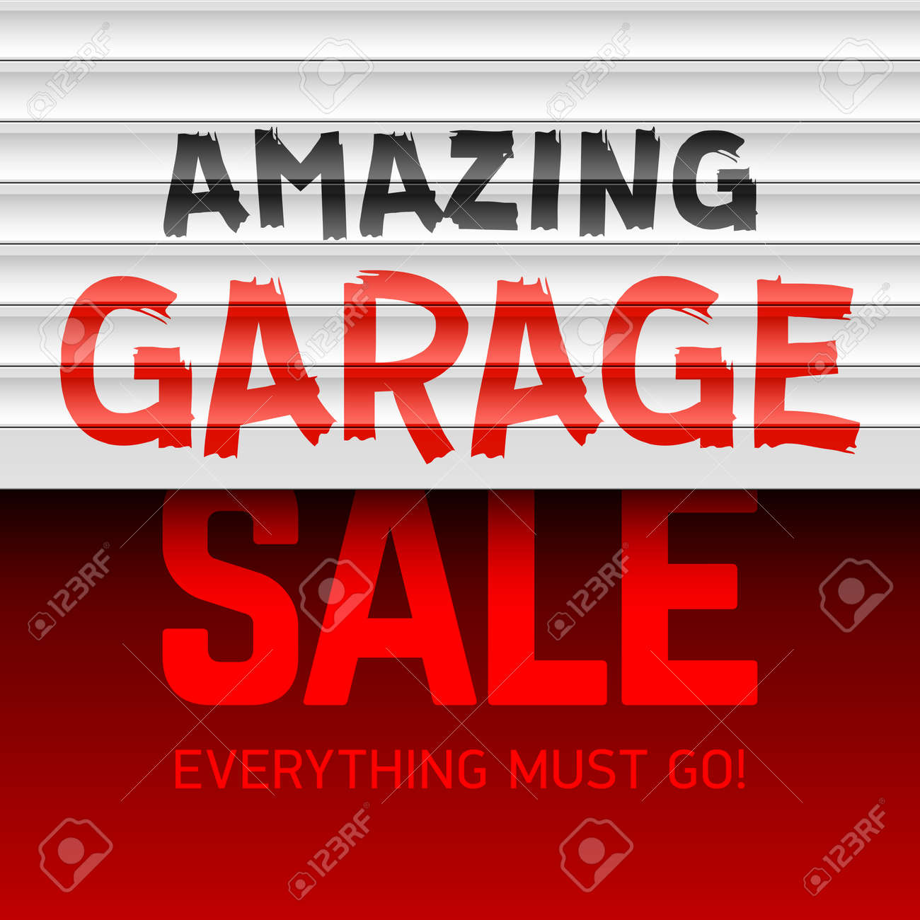 amazing garage sale poster template stock vector 59175263