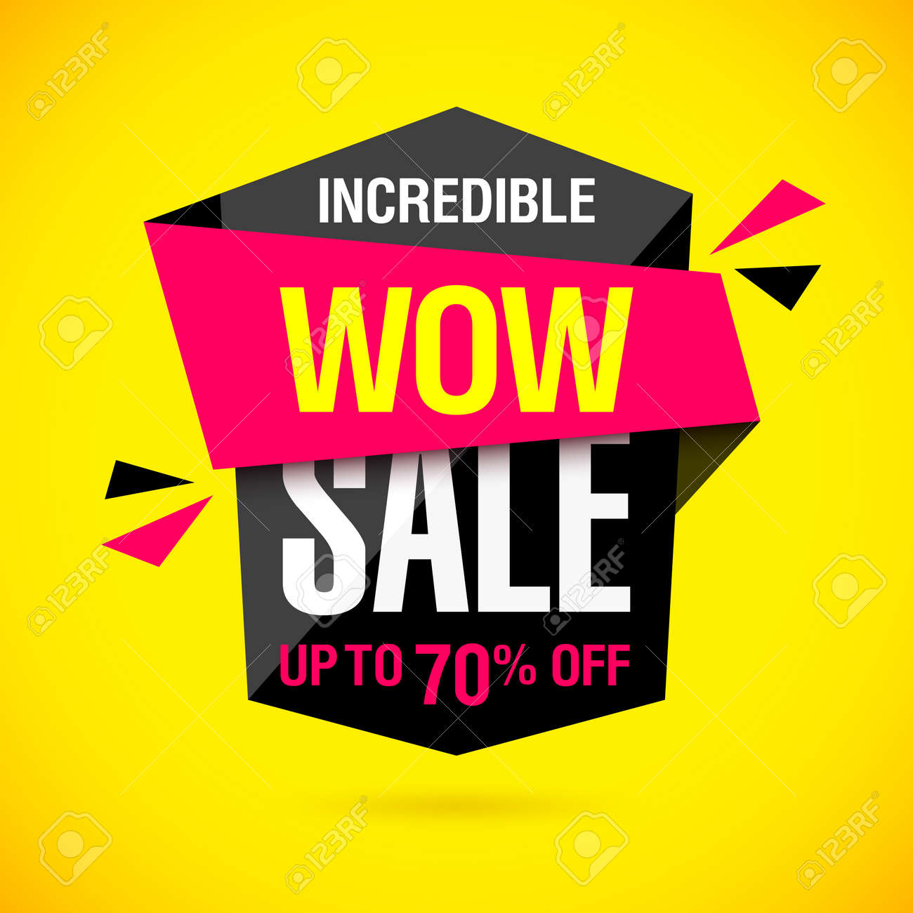 incredible wow sale banner design template big super sale special
