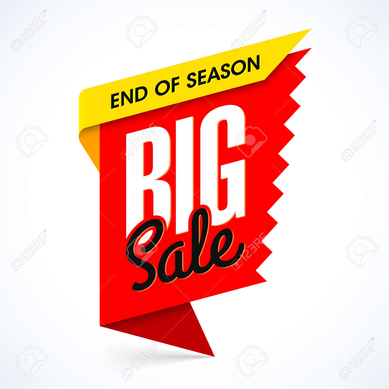 end of season big sale banner design template royalty free cliparts