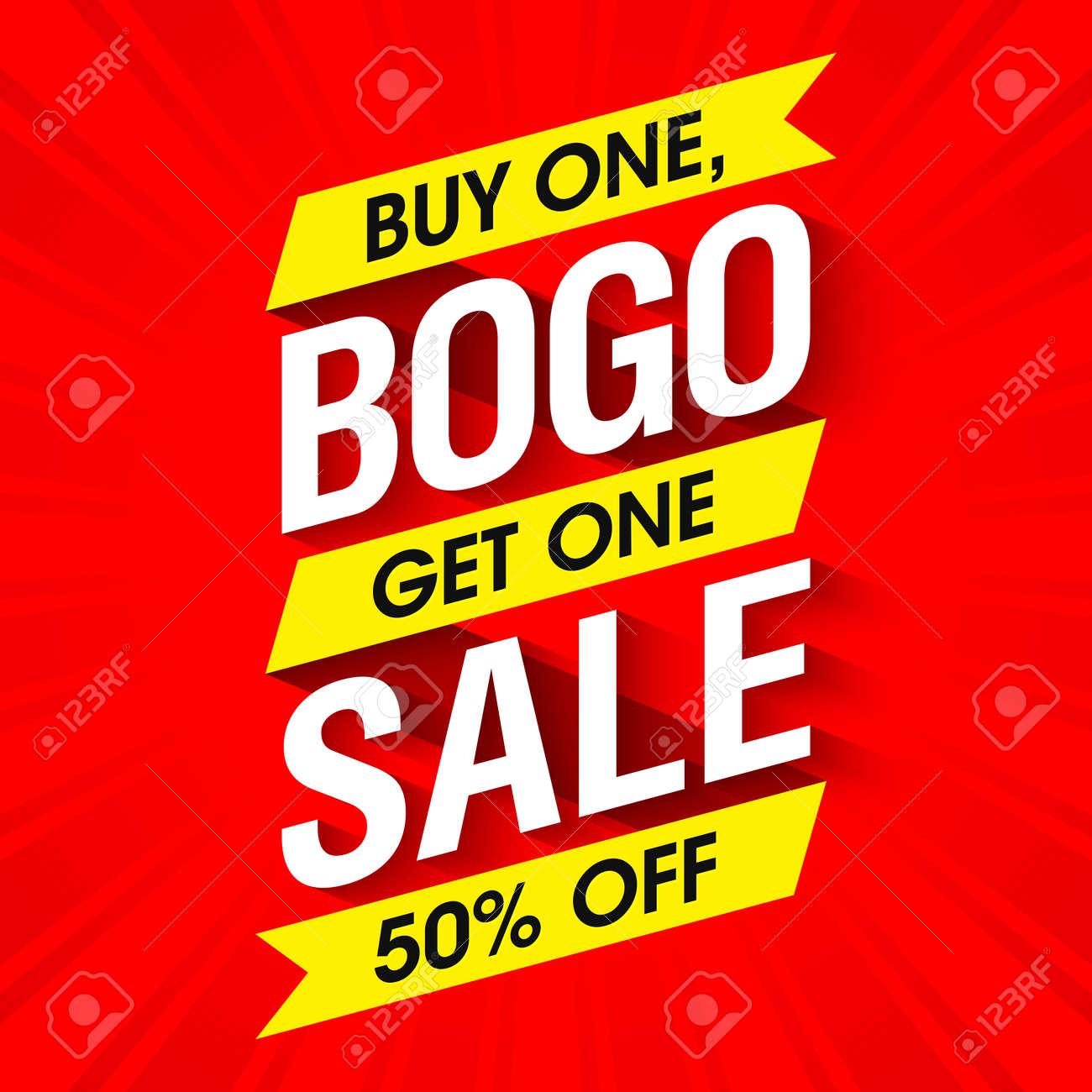 Bogo Sale banner design template - 61124588