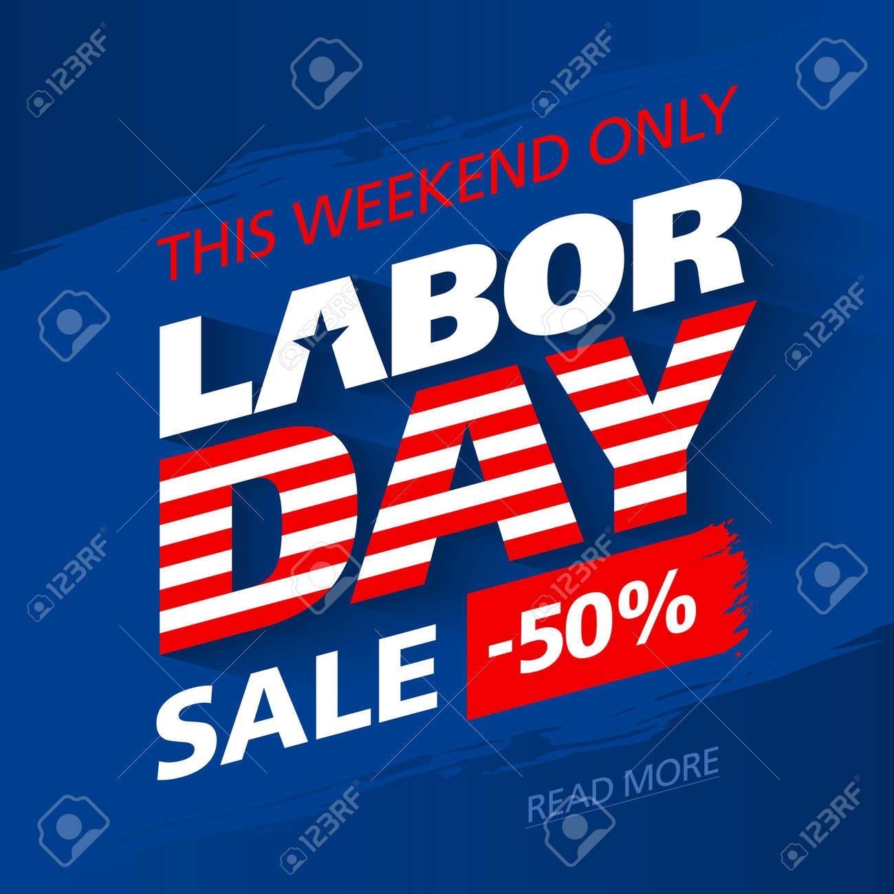 Labor Day Sale This Weekend Special Offer Advertising Banner