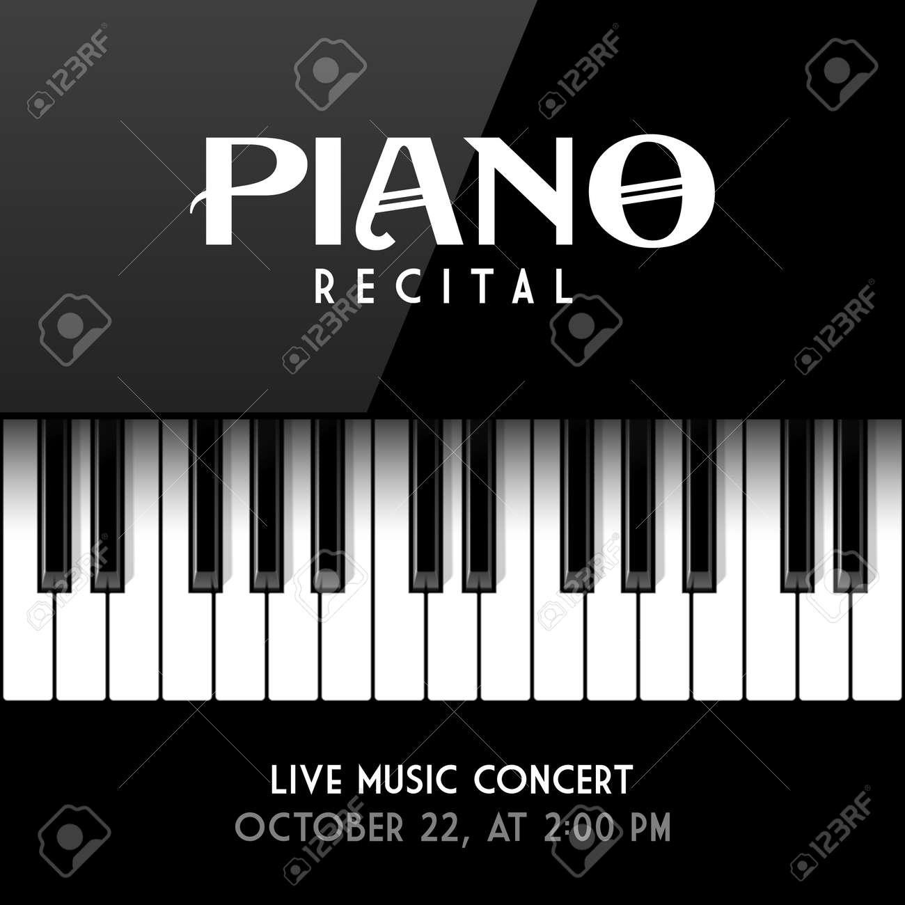 Piano Recital Poster Leaflet Or Invitation Design Template Stock Vector