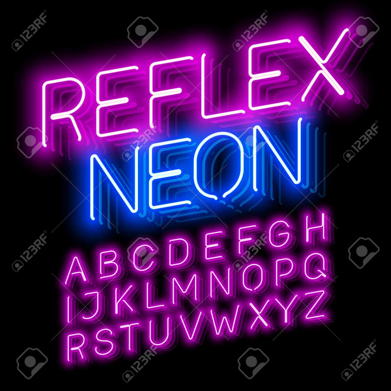 Reflex Neon font - 63055281