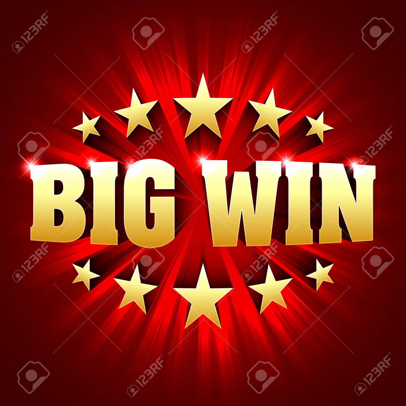 Big Win banner background for lottery or casino games such as poker, roulette, slot machines or card games - 65332221