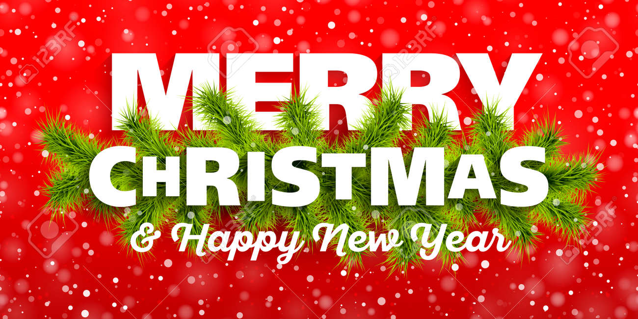 Merry Christmas-Grußkarte Lizenzfrei Nutzbare Vektorgrafiken, Clip ...