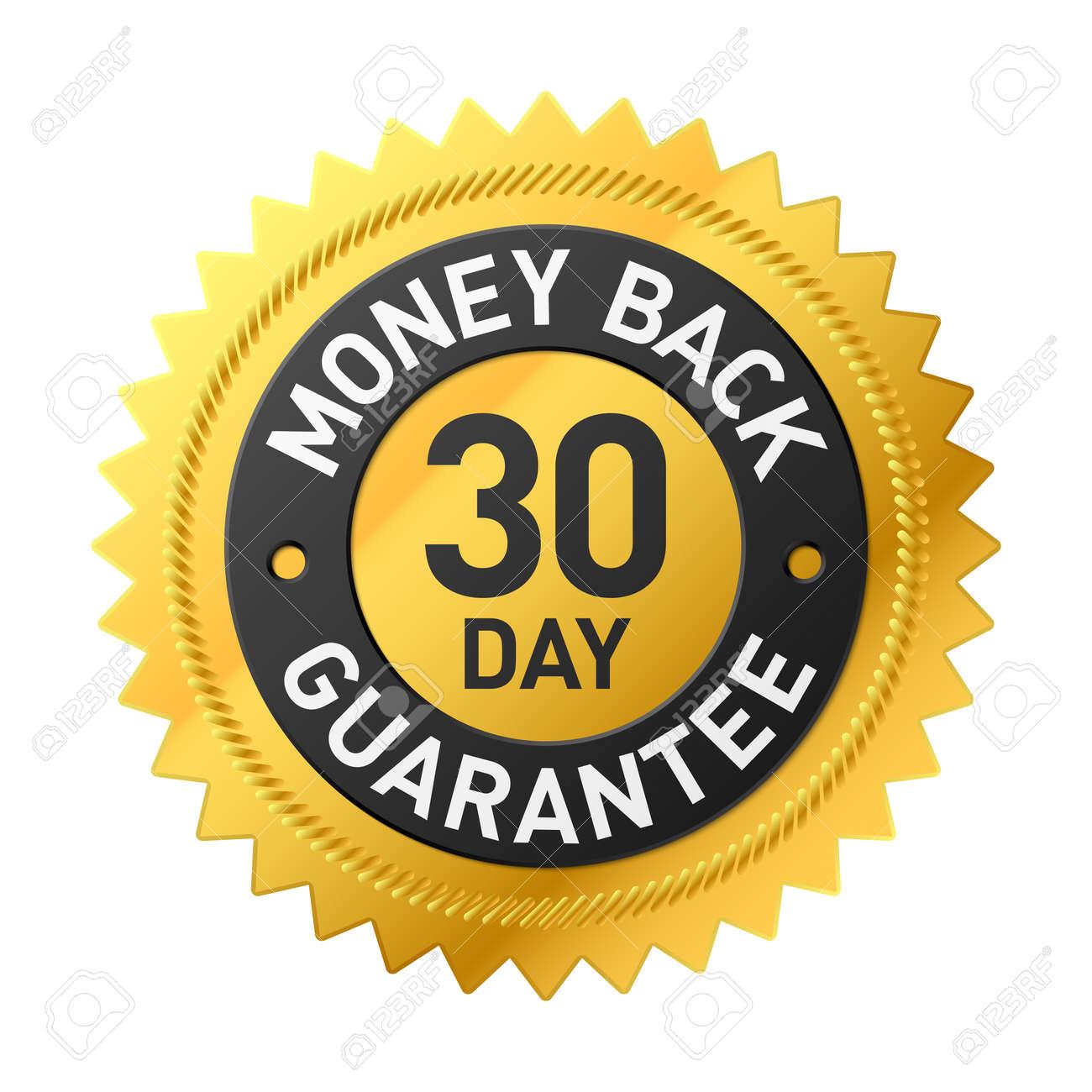 30 day money back guarantee label - 69055042