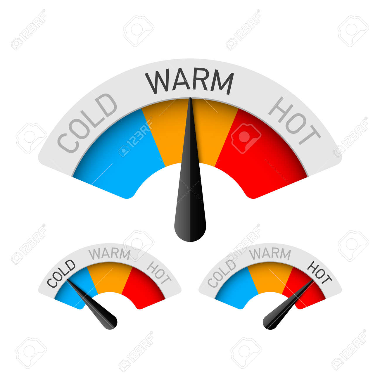 Cold, warm and hot temperature gauge - 70650134