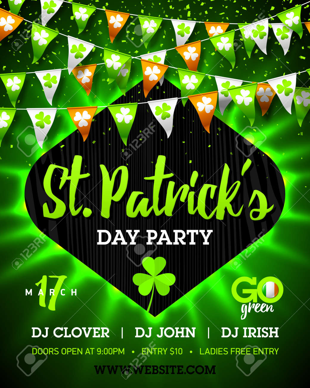 17 march saint patricks day party bright invitation poster design 17 march saint patricks day party bright invitation poster design imagens 72960829 stopboris Gallery