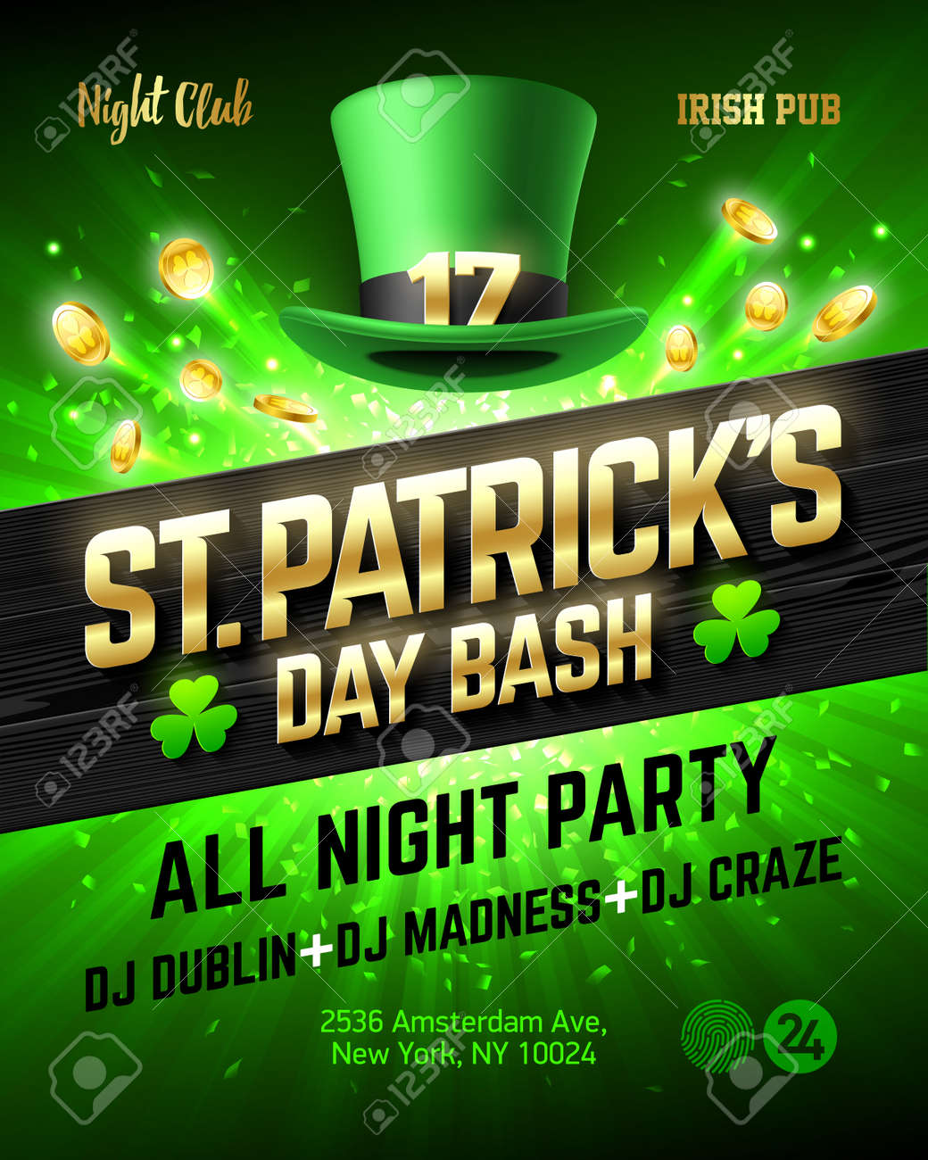 Saint Patrick\'s Day Bash Celebration Poster Design, 17 March ...