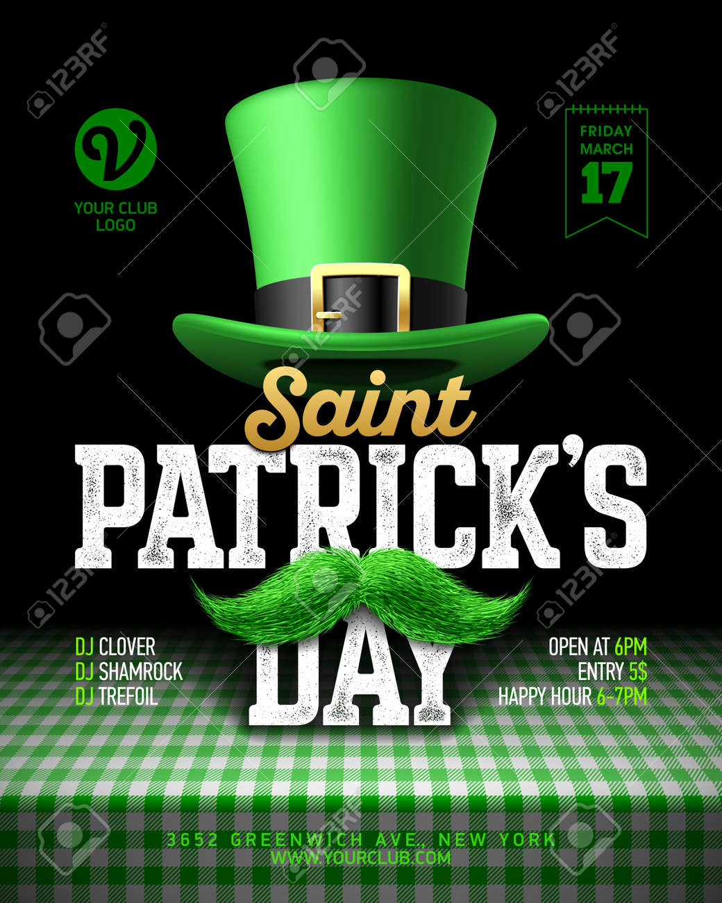 Saint Patrick\'s Day Party Poster Design, 17 March Celebration ...