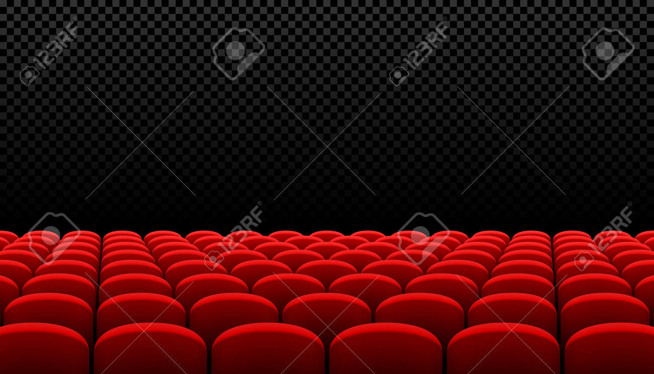 Rows Of Red Cinema Movie Theater Seats On Transparent Background Royalty Free Cliparts Vectors And Stock Illustration Image 74998228