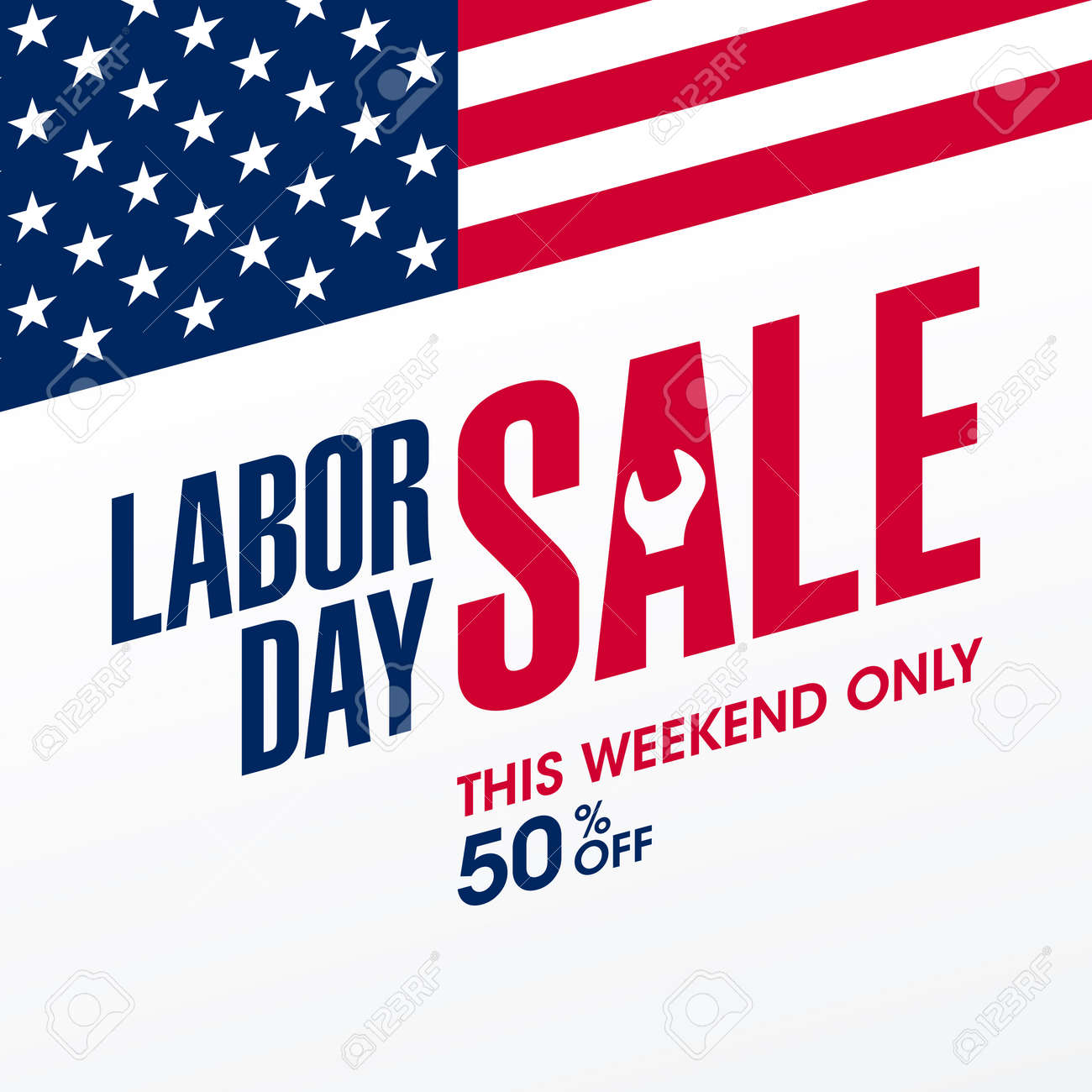 Labor Day Sale This Weekend Only Special Offer Banner Design