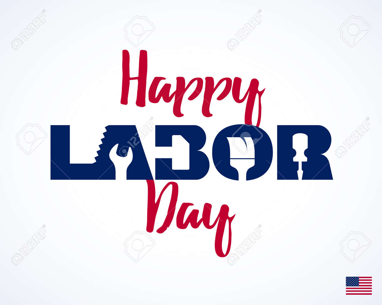 Greeting cards graphic design vector and clip art inspiration happy labor day greeting card design american national holiday rh 123rf com greeting card graphic design jobs m4hsunfo