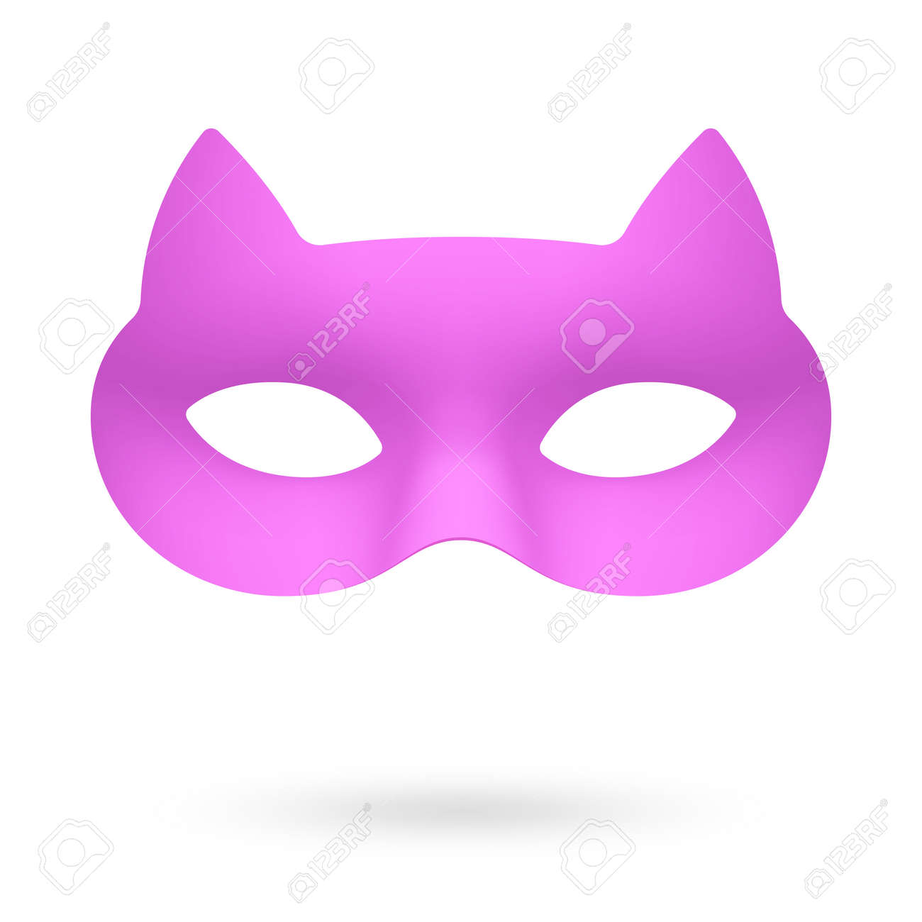 0c11cd902eca Purple Masquerade Eye Mask Illustration. Royalty Free Cliparts ...