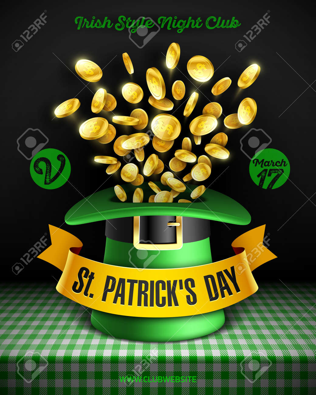 saint patrick s day party poster design 17 march feast of saint