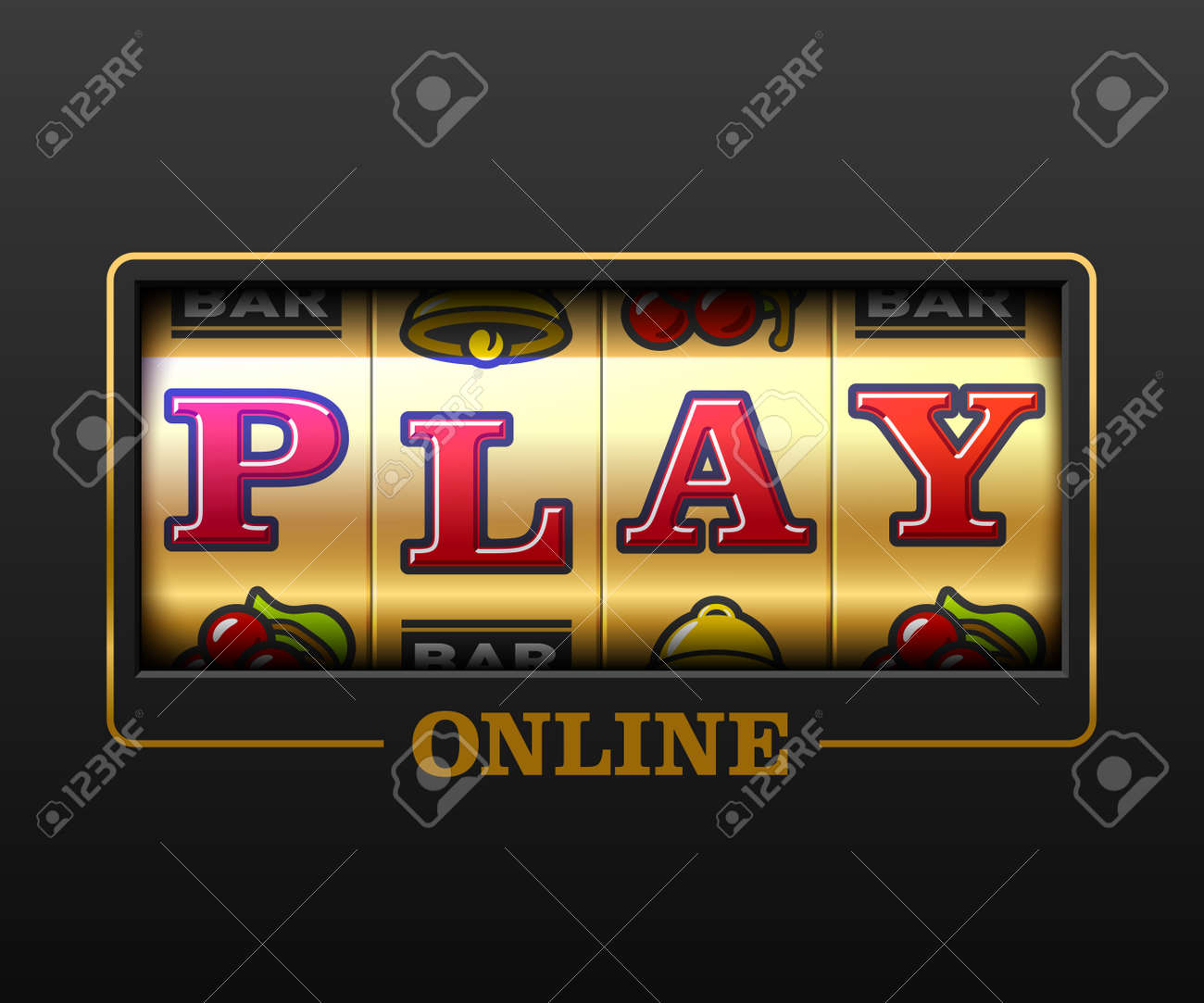 Play Online Slot Machine Games Banner Gambling Casino Games Royalty Free Cliparts Vectors And Stock Illustration Image 96494926