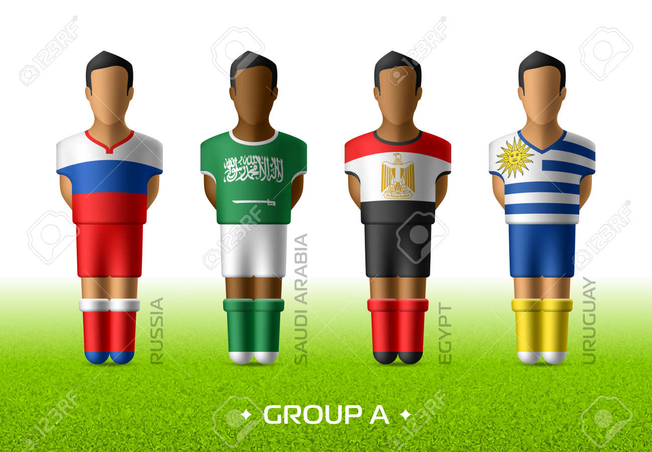 8633438e144 Football / soccer team players in the uniform of national flags for football  championship in Russia