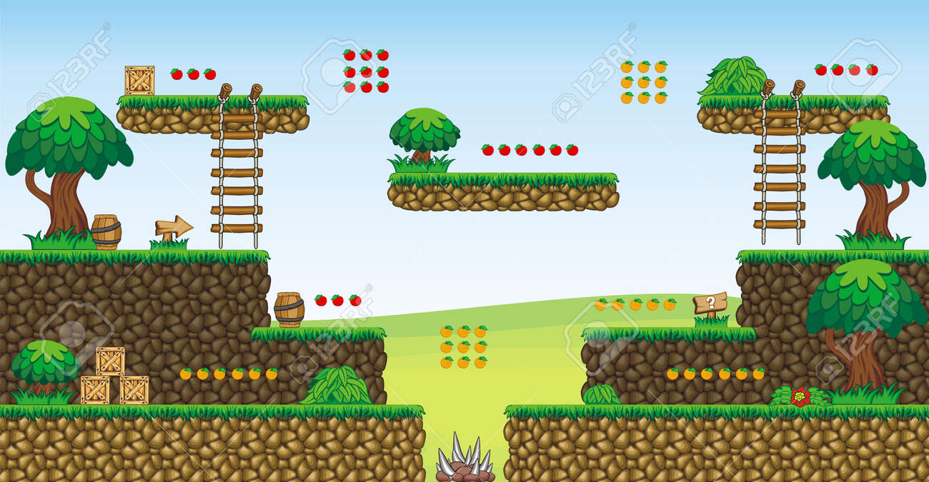Fliesen Plattform Für Game Eine Reihe Von VektorSpiel Asset - Minecraft pc version auf handy spielen