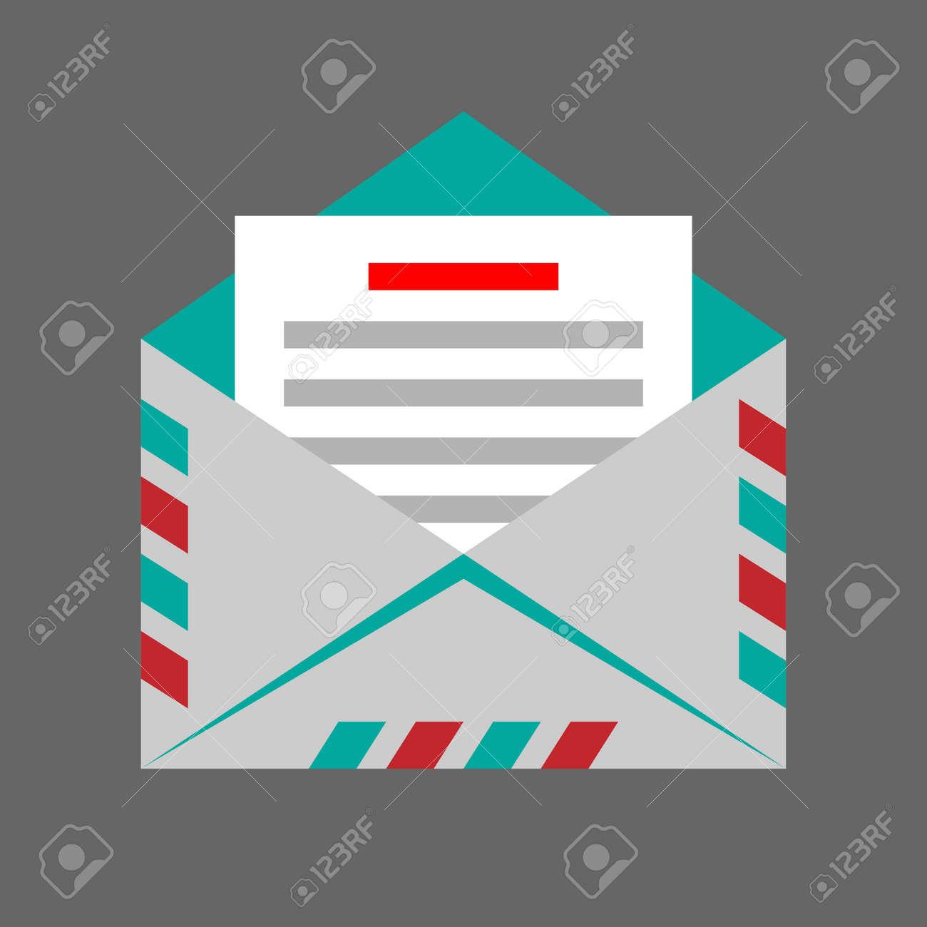 envelope on gray background Stock Vector - 31062491