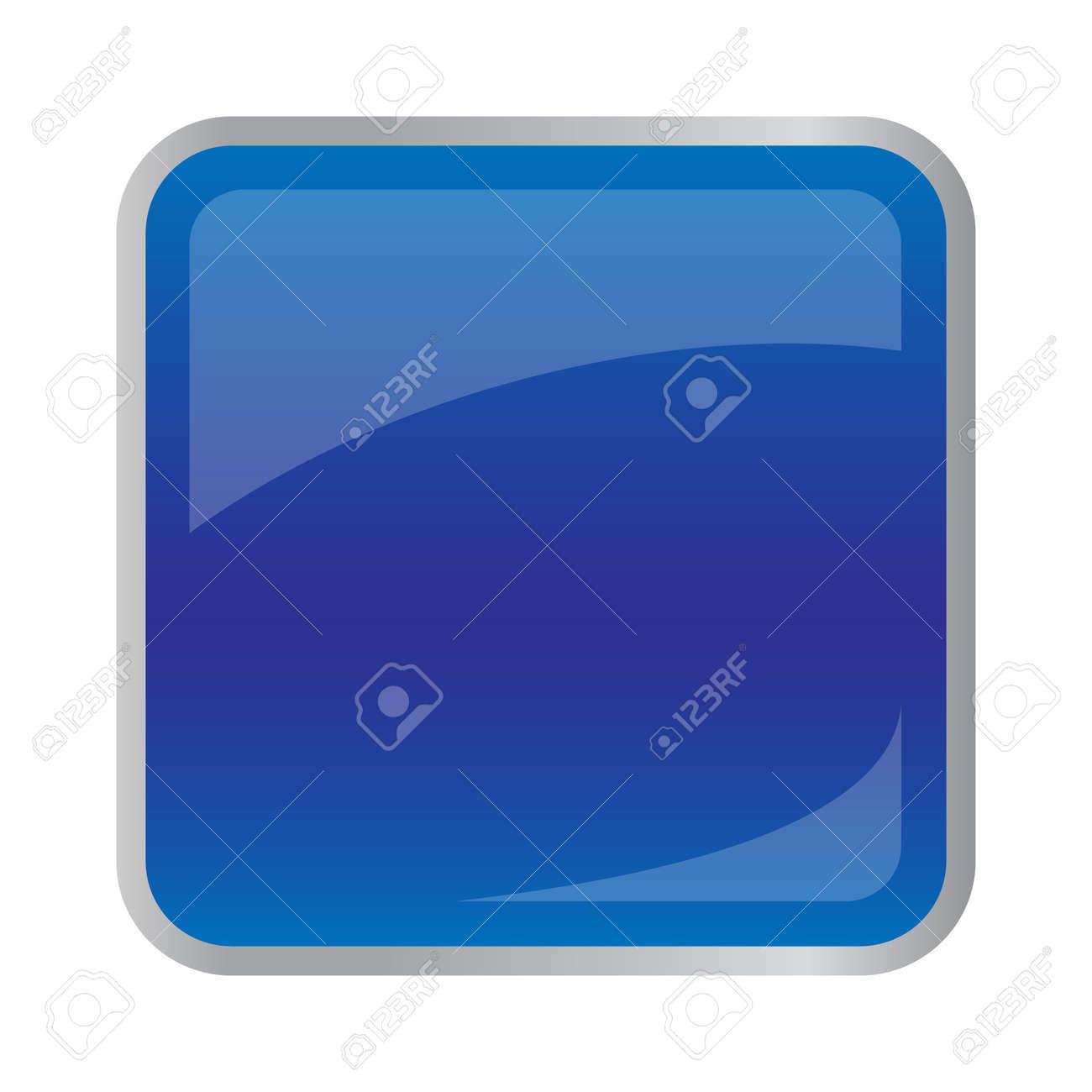 Square dark blue button for website Stock Vector - 35576605