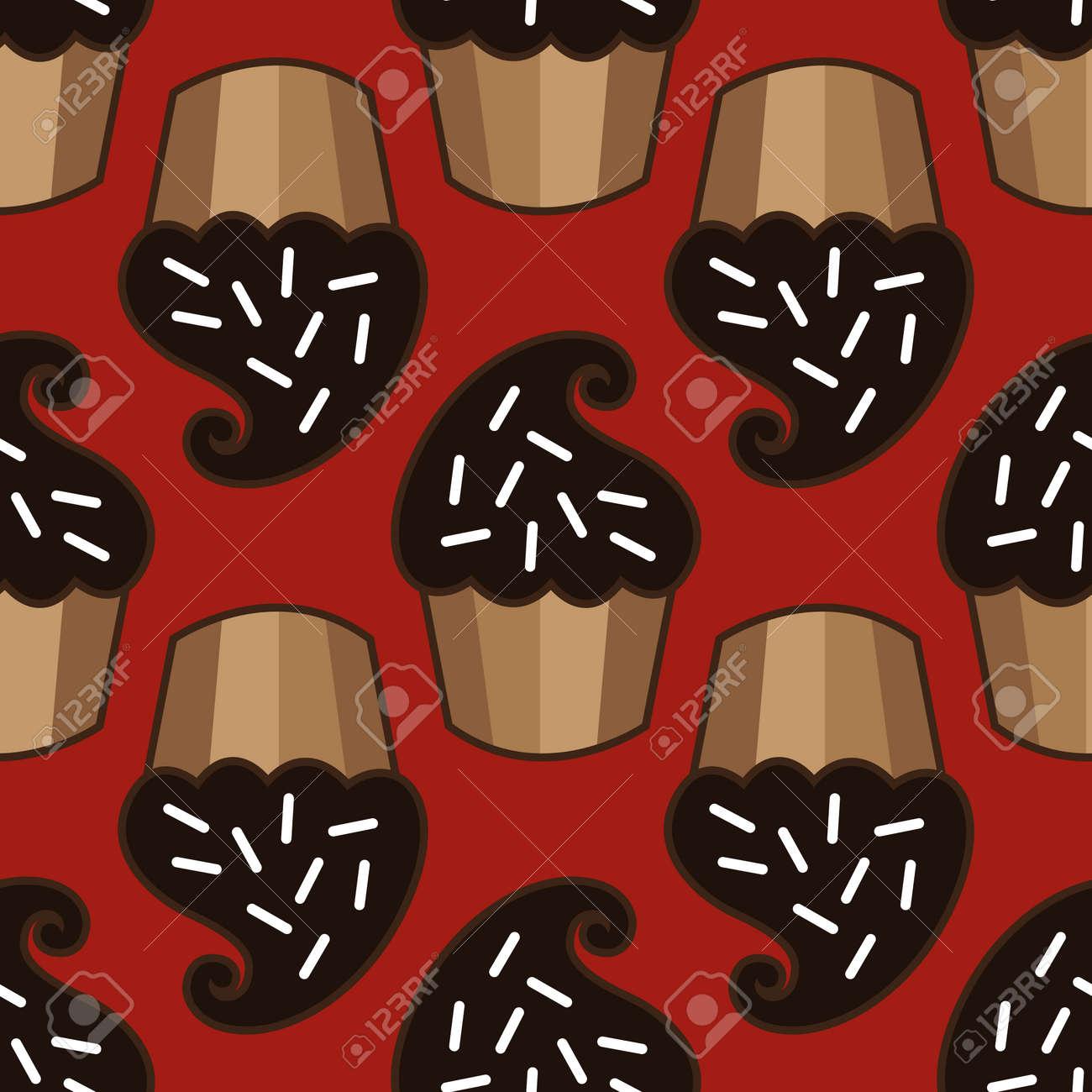 Cream choco cake seamless pattern Stock Photo - 88148138