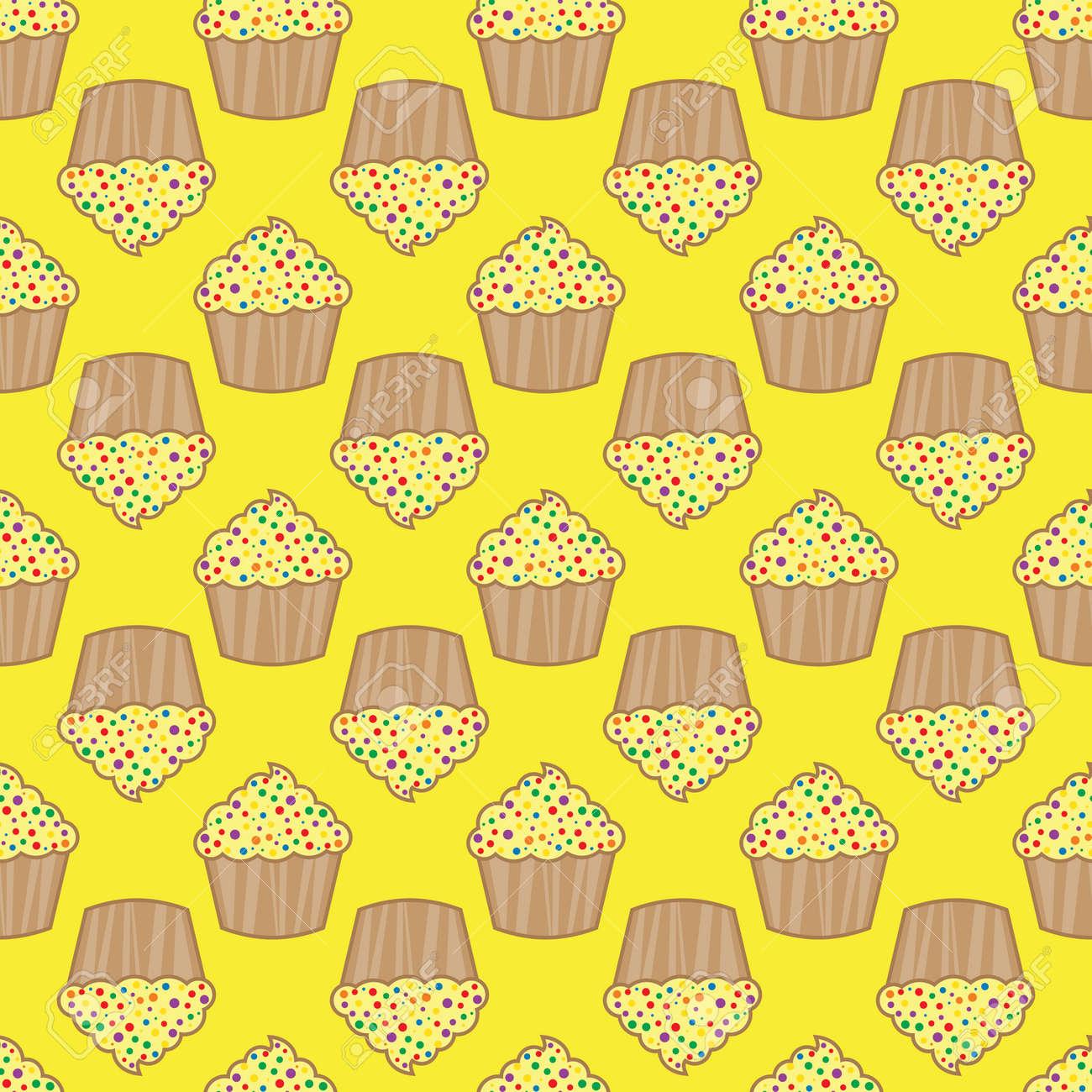 Orange lemon cream cake pattern design template. Stock Vector - 88138745