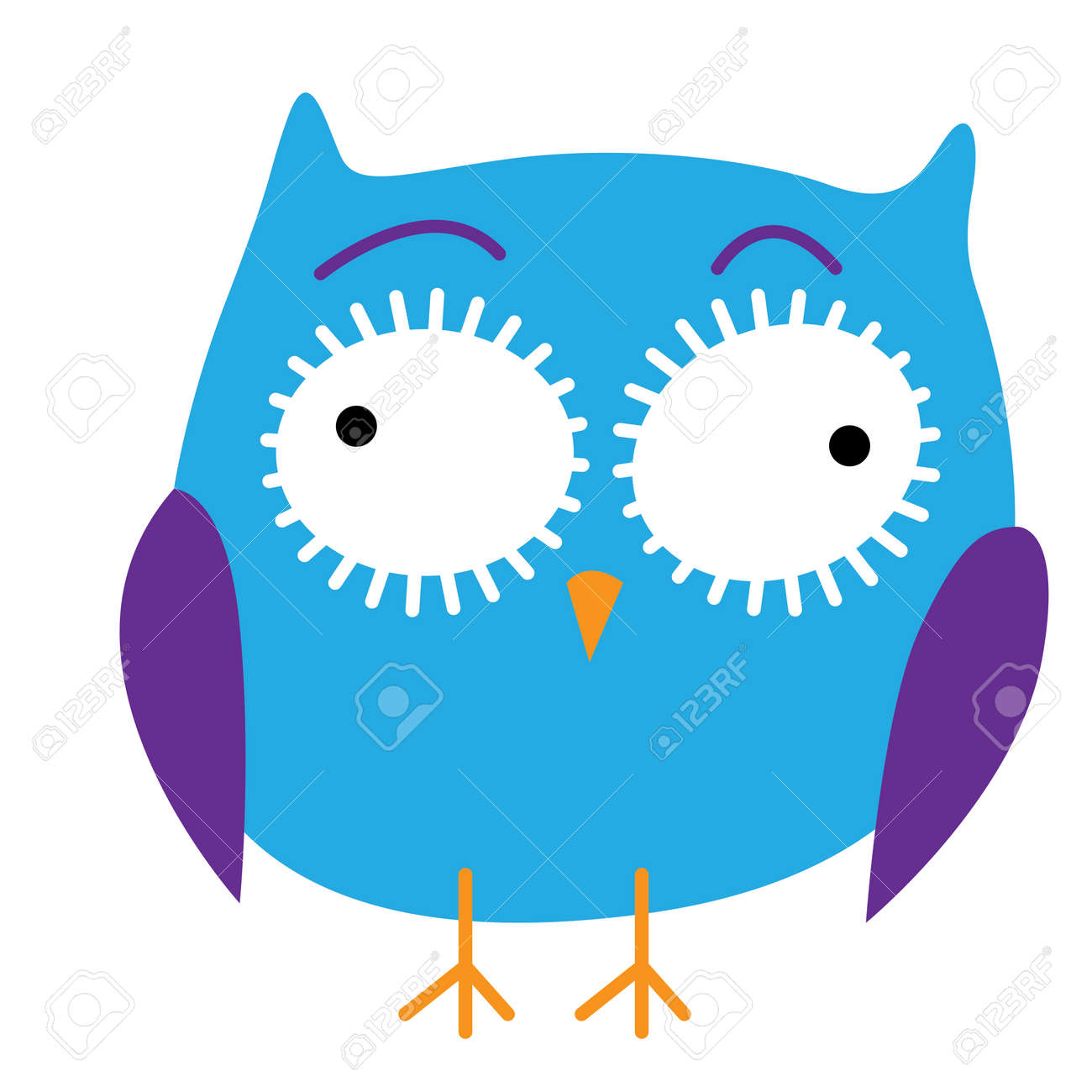 Crazy funny owl hand drawn vector illustration. Stock Vector - 88140581