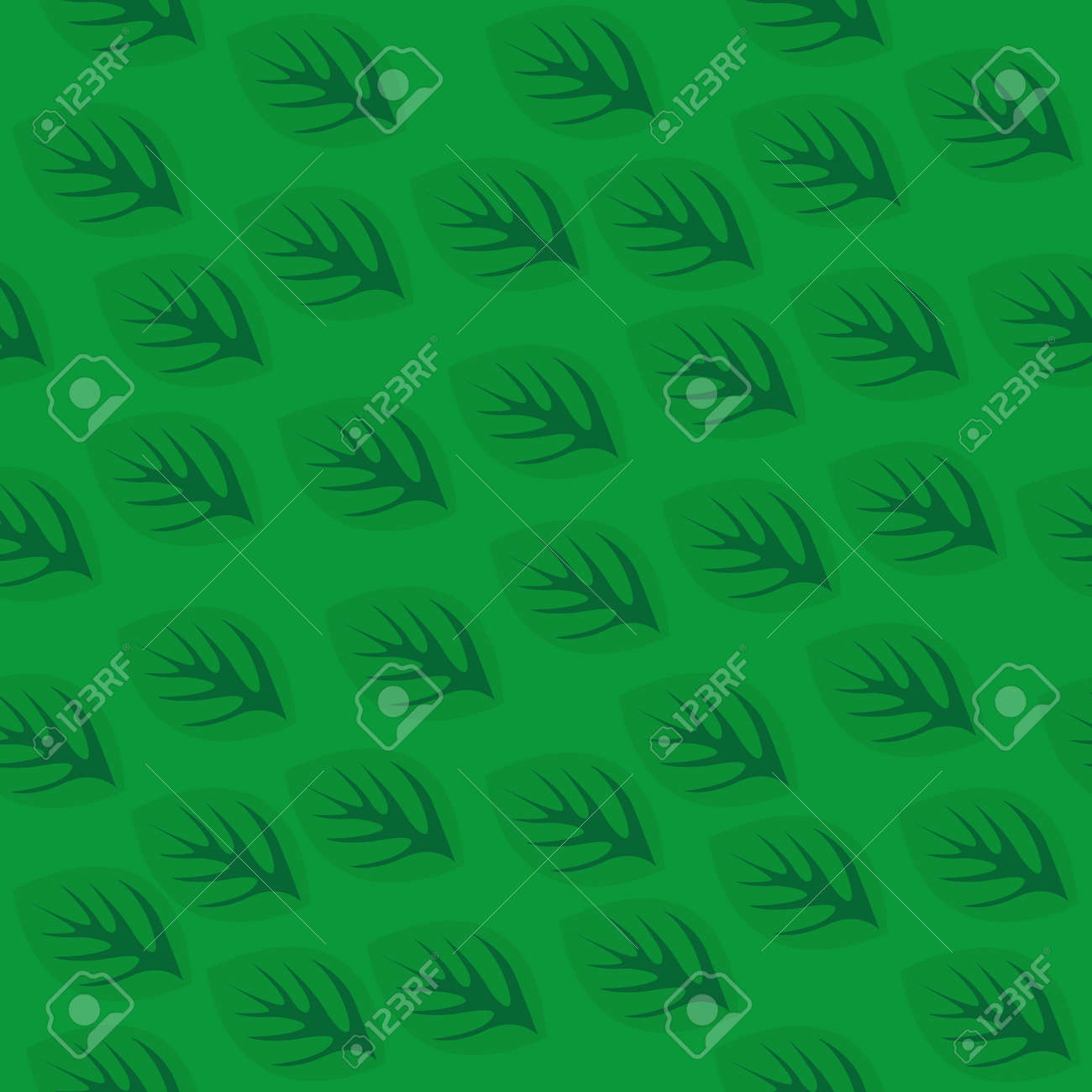 Seamless pattern with green leaves. Vector illustration Stock Vector - 88184839