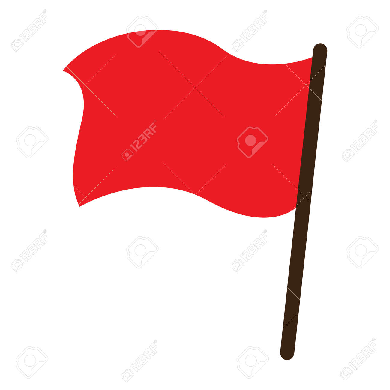 Red flag icon. Stock Vector - 88212895