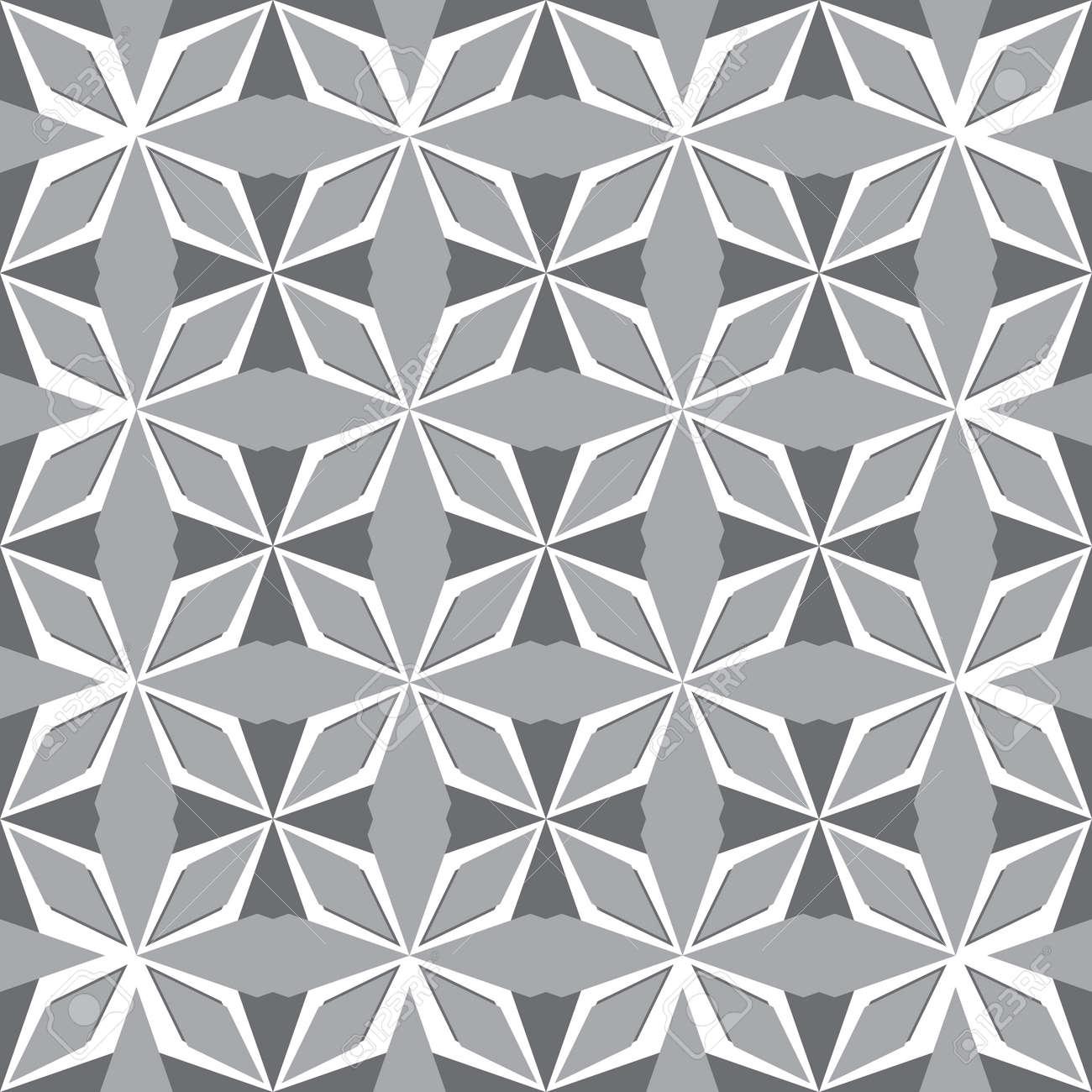 Art abstract geometric gray seamless pattern Stock Vector - 92236190