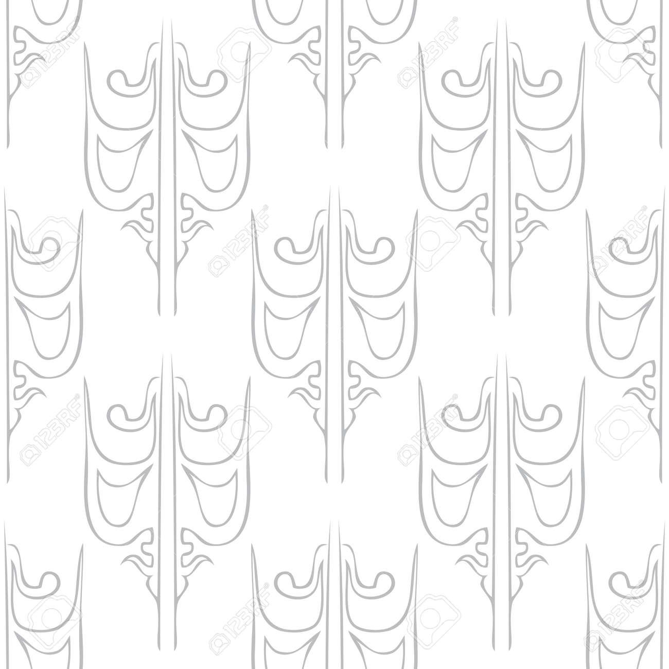 Seamless abstract vintage light gray pattern. Vector illustration Stock Vector - 92720620
